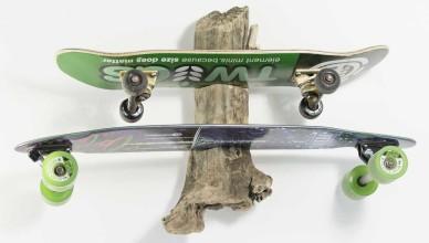 longboard wandhalterung driftwood surfhund zwei boards