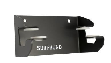 longboard wandhalterung multi horizontal surfhund in schwarz