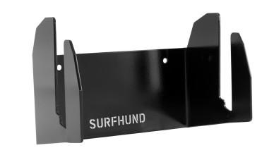 longboard wandhalterung multi vertikal surfhund in schwarz