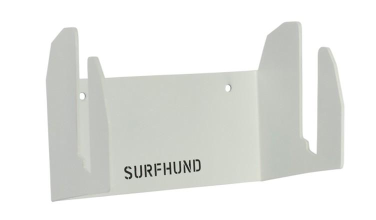 longboard wandhalterung multi vertikal surfhund in weiss